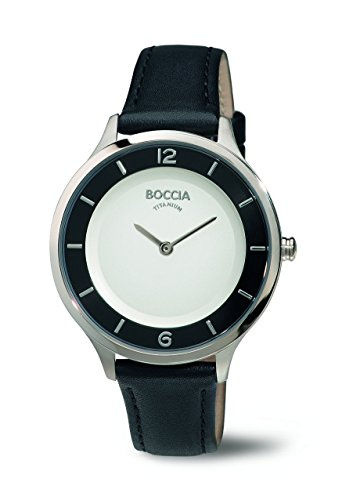 Boccia Damen-Armbanduhr Analog Quarz Leder 3249-01