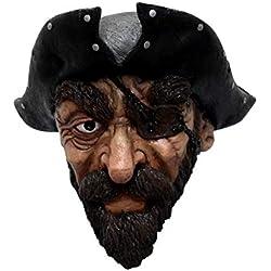 Máscara de pirata con barba.