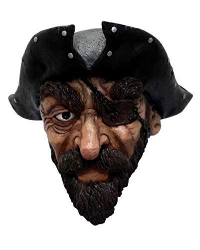 (Horror-Shop Piraten Maske mit Bart für Fasching & Halloween)