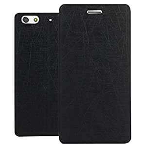Heartly Premium Luxury PU Leather Flip Stand Back Case Cover For Gionee Elife S7 Dual Sim - Best Black