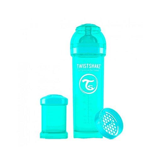 Twistshake TS-78036 Biberon Anti-Colica con Tettarella L 4+ m, Turchese, 330 ml