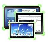 Coque tablet silicone Étui tablet silicone Coque Tablette silicone étui tablette silicone compatible avec toutes les tablettes de toute taille comme 7 ', 8', 9', 9.7', 10.1' (Vert)
