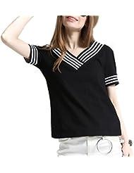 Keno camiseta mujer de verano - 95% algodón - cuello V o se puede vestir como camiseta sin tirantes - L