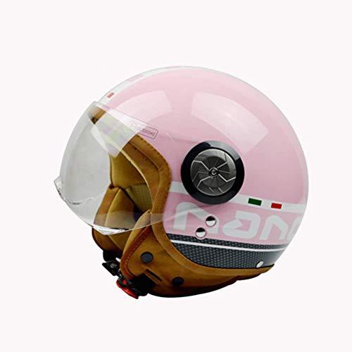 GLEI-TK Halber Helm Open-Face Helme Harley Helm Detachable Sonne Visor-Lens Stärkung der Behandlung, UV-Schutz,M