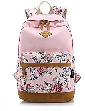 Hosaire 1X Ragazze Ladies Womens stampa tela zaino zaino scuola borsa Casual Borsa zainetto,rosa,Dimensioni: 30...