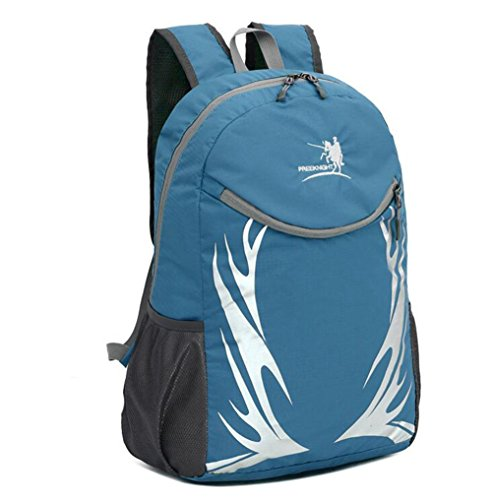 Wmshpeds Ultra-light borsa a tracolla con borsa di pelle esterno pieghevole alpinismo zaino viaggio uomini e donne borsa sportiva B