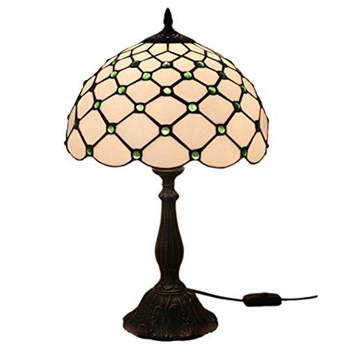 Fabakira Vintage mediterrane Tiffany Stil Bernstein Tischlampe Luxus Nachttischlampe -