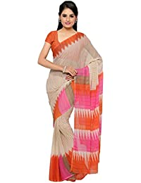 571f8a00511 Vaamsi Chiffon Saree with Blouse Piece (Empress1033 Multicoloured One Size)