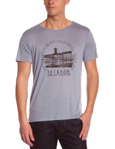 Billabong - Maglietta, collo rotondo, manica corta, uomo Blu (Blargeue Tack)