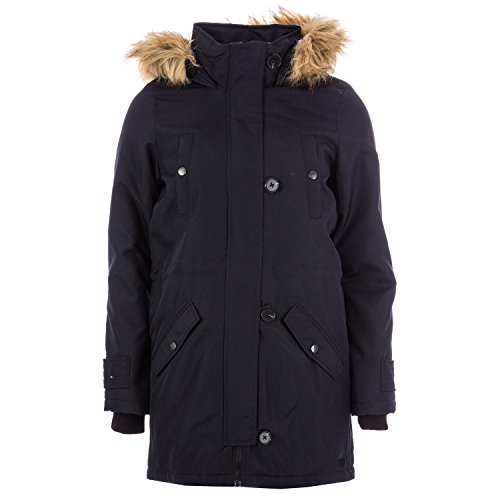 Vero Moda Damen Parka Winterjacke Kurzmantel (X SMALL UK 8, Black Beauty)