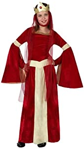 Atosa-15877 Disfraz Dama Medieval, color rojo, 5 a 6 años (15877)