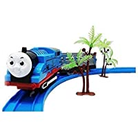 GiftArt Battery Operated Toy Train with Track Set Sound and Flashing Headlights