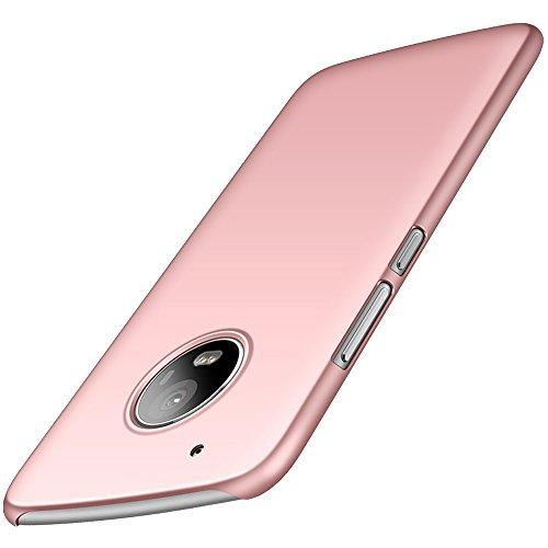 anccer Motorola Moto G5 Plus Hülle, [Serie Matte] Elastische Schockabsorption & Ultra Thin Design für Moto G5 Plus (Nicht für Moto G5S Plus)-Glattes Rosen-Gold
