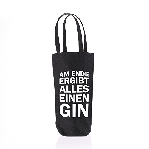 Herz & Heim® Flaschenbeutel zum Verschenken - Am Ende ergibt alles einen Gin