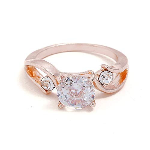 creatspaceDE Mode-Ringe Erscheinen Elegante Temperament Schmuck Frauen Mädchen Hochzeits-Verpflichtungs-Ring des Farbe: Roségold