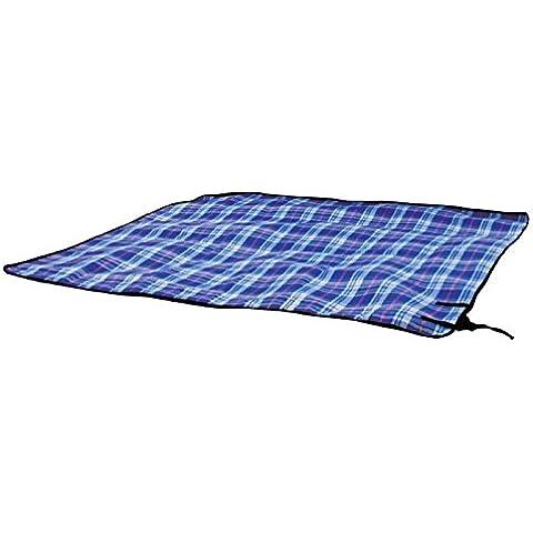 King Camp picnic 175 x 135 cm clásico con correa y bolsa de manta de picnic impermeable azul de ocio Camping