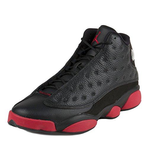Nike Herren Air Jordan 13 Retro Turnschuhe, Schwarz/Rot/Schwarz (Schwarz/Gym Rot-Schwarz), 48 1/2 EU (Schuhe Verkauf Herren Nike)