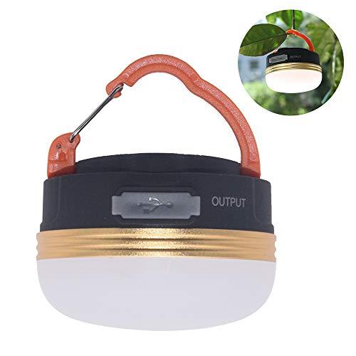 TJW, wiederaufladbare Camping-Leuchte, wasserdicht, extrem hell, LED, Outdoor-Lampe, 3 Modi, zum Aufhängen, mit Magnet, warmes Weiß, für Outdoor-Aktivitäten / Camping / Notfall