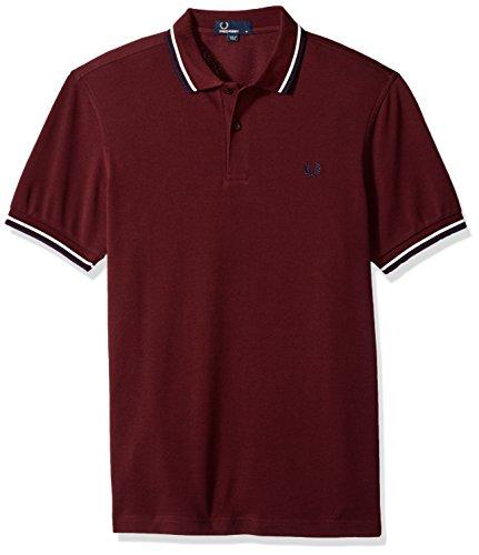 Fred Perry Herren Twin Tipped Shirt Poloshirt, Violett (Mahogany F64), Medium