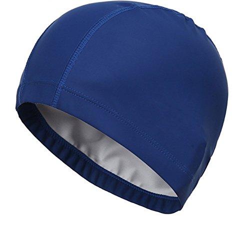Leisial Gorra de Natación Suave Impermeable Respirable para Mujer Hombres  Unisex Tamaño Único 1f561890149