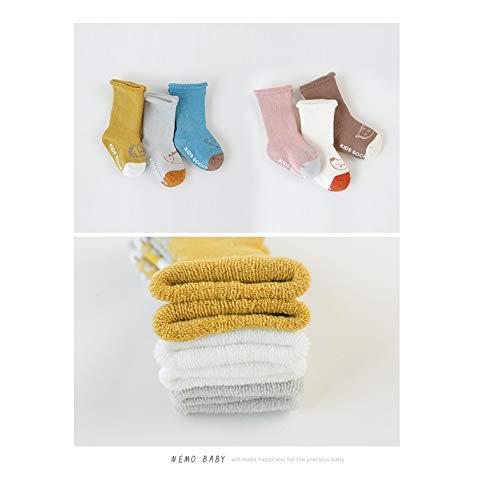 Uzinb 3Pairs Winter Herbst verdicken warme Baby Sockings Mädchen Jungen Kleinkinder Acryl Baby-Karikatur-Socken - Baby-socke-traktion