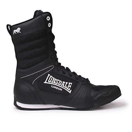 Lonsdale Anwärter-hohe Boxen-Stiefel - Schwarz-weiß UK 3 - EU 36