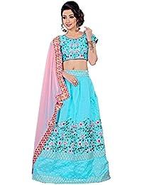 ShreeBalaji multicolor silk embroidary Lehenga Choli (SBE-016_Free Size)