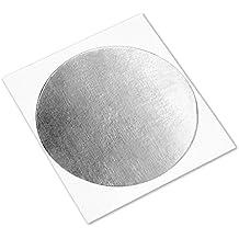 """tapecase 4380circle-3.500""""-100Plata Acrílico Aluminio Cinta adhesiva de 3M 4380, de -30a 300grados Fahrenheit Convertidas, 3,25"""" de grosor, 3.5""""Longitud, ancho de 3.5(100unidades)"""