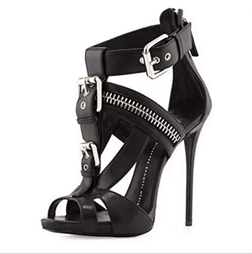 DUQI22 Damen Plateau Pumps Riemchen Stiletto High Heel Schuhe Party Bow Clubbing Heels Schuhe,Black,35EU Bow Stiletto