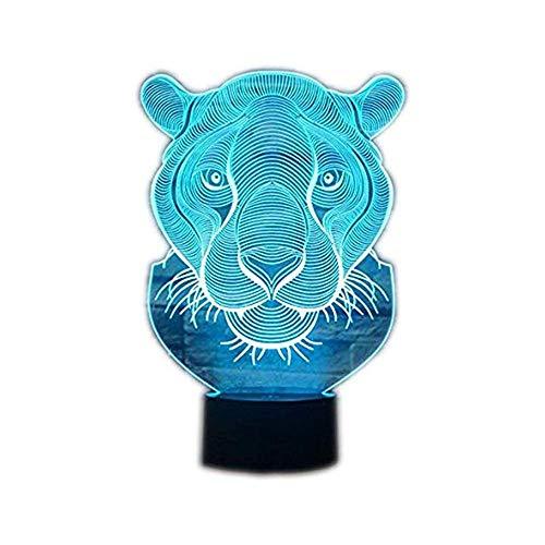 Wangzj 3d Night Light/Led Optical Illusion Lamp / 7 colori che cambiano Touch Desk Lamp/Bambini Regali di Natale/Leone