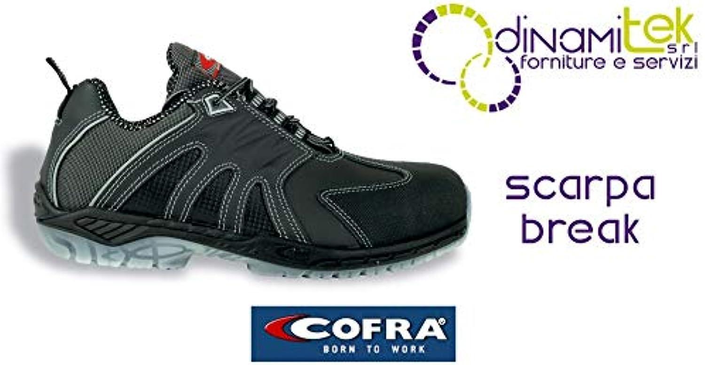Cofra Cofra Cofra 30161 – 000.w41 Break S3 SRC scarpa di sicurezza Taglia 41 Nero   Lavorazione perfetta  5f66bd