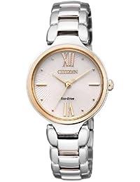 Citizen Damen-Armbanduhr Analog Quarz Edelstahl beschichtet EM0024-51W