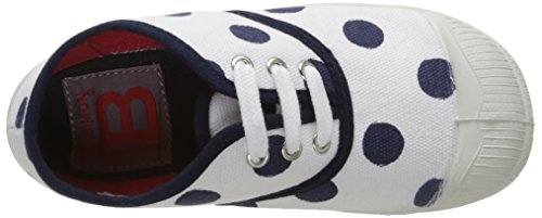 Bensimon Tennis Pois Unisex-Kinder Sneaker Blau - Bleu (516 Marine)