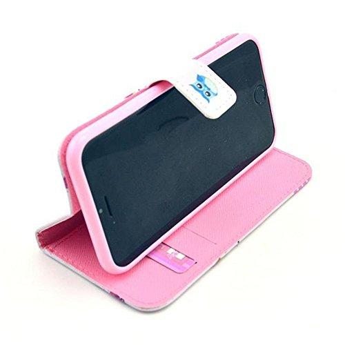 Aeontop 4 en 1 Custodia in pelle Protettiva Cuoio Portafoglio Flip Cover per Apple iPhone 6 4.7/iPhone 6S con chiusura magnetica e funzione di supporto , Pellicola di Protezione e dello stilo Incluse  modello 26