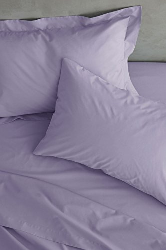 Catherine Lansfield Easy Iron Percale Single Flat Sheet Lilac