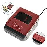 PrimeMatik - Geldprüfer Geldprüfgerät Banknotenprüfer Geldscheinprüfer Euro Detektor mit Totalisator-LCD mini