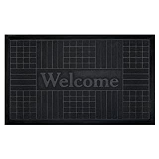 Achim Home Furnishings Welcome Mat, Geometric, Grey