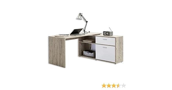 Fmd moebel diego bureau d angle avec tiroir porte