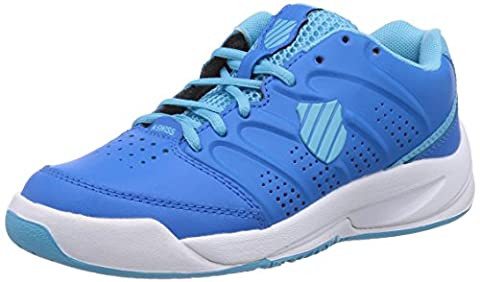 K-Swiss Performance KS TFW ULTRASCENDOR OMNI JR-BLUASTR/BCHLRB/WH-M, Unisex-Kinder Tennisschuhe, Blau (BLUEASTER/BACHELORBUTTON/WHITE), 37.5 EU (4.5 Kinder