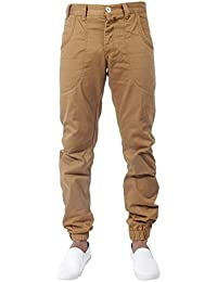 BRAND NEW MENS LATEST ETO EM216 TAN CUFFED ANKLE CHINOS BARGAIN SALE PRICE