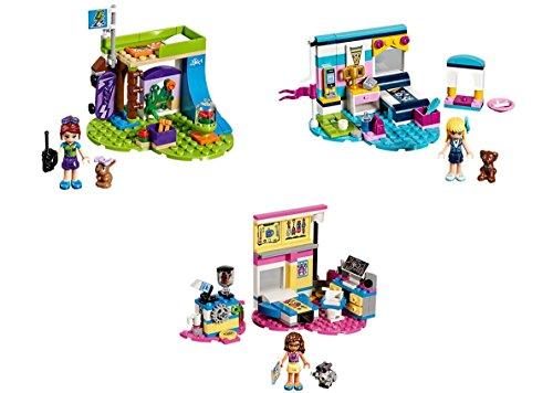 LEGO Friends 2018 les chambres - La chambre de Mia + La chambre de Stéphanie + La chambre labo d'Olivia