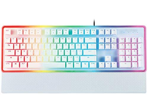 RGB Gaming Tastatur, verkabelt, Membran mechanisch, weiß,