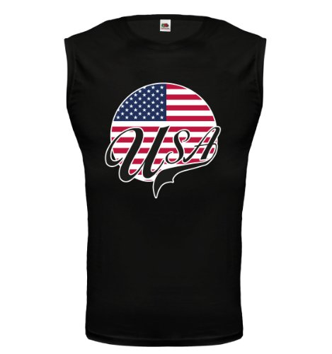 buXsbaum® Tank Top USA-Logo Black-z-direct