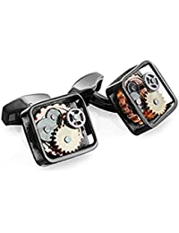Tateossian RT Gunmetal Gear Cufflinks