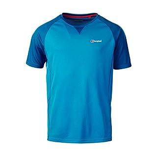 Berghaus Men's Tech 2.0 Short Sleeve Crew Neck Shortsleeve T-Shirt, Adriatic/Snorkel Blue, Large