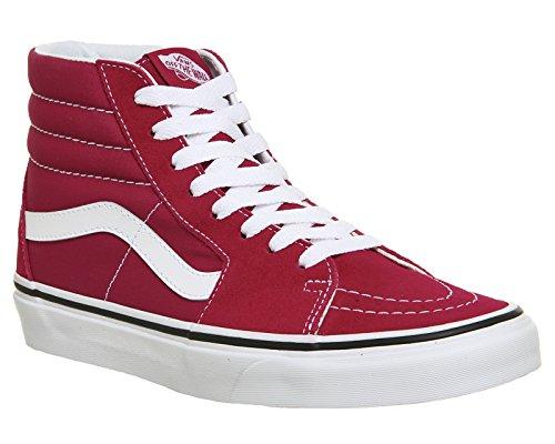 Vans Sk8-Hi, Baskets Hautes Mixte Adulte Rouge (Crimson/true White Q9u)
