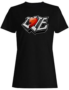 I amor usted corazón novedad divertido vintage arte camiseta de las mujeres zz84f