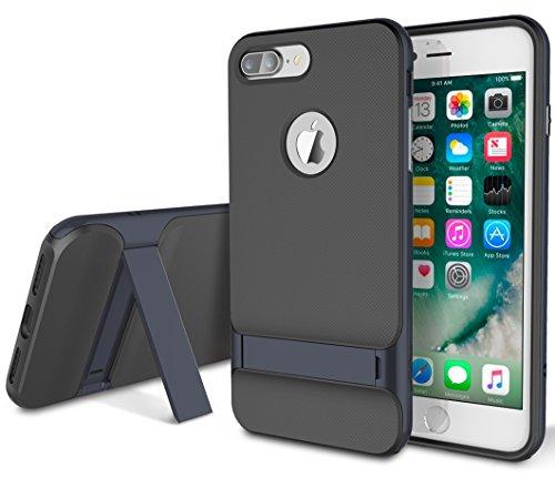 ROCK ''Royce'' iPhone 7 Plus Harte TPU Hülle Bumper Case Tasche Schutzhülle Handyhülle Shell-Schutz für Apple iPhone 7 Plus/ iPhone Pro - Grau iphone 7 plus/iphone pro Dunkelblau
