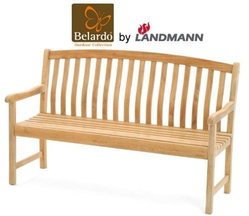 Belardo by Landmann Teak Gartenbank 150cm 3-Sitzer Holzbank Sitzbank Holz Bank