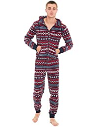 6fd1d0cef118 Slumber Hut® Mens Fleece Hooded Onesie - Novelty All in One Pyjamas with  Hood -